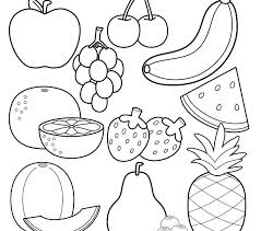 Fruit Basket Coloring Pages Printable Free Me