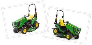 John Deere 1025r Mower Deck Adjustment by John Deere Equipment Comparison 1023e And 1025r Utility Tractors