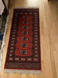 echter vintage teppich rot wohnzimmer retro antik