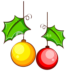 Illustration Of A Simple Coloured Drawing Christmas Decor On White Background
