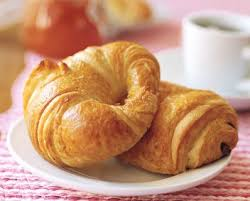 Croissant France Flaky Pastry Smothered In Butter A Pile Of Raspberry Jam
