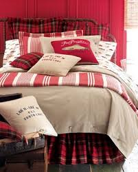 Classic Red And Black Tartan Combined With Cream For A Cozy Bedroom Look
