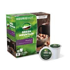 Keurig Pumpkin Spice Coffee Nutrition by Block Code 120243 Green Mountain Coffee Hazelnut K Cups 18 Count