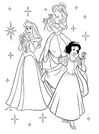 Disney Princesses Coloring Pages And Princess Free Printable