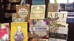 Adult Colouring Books On Display