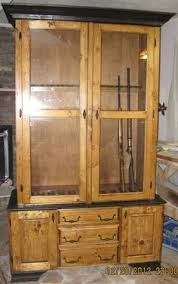 Wooden Gun Cabinet With Etched Glass by Gun Cabinet Plans For A Wood Store Gun Cabinet Pinterest