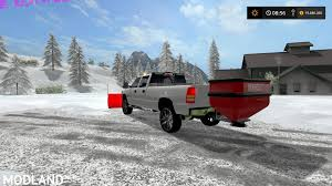 2002 Silverado 2500 Plow Truck With Hitch Mount Salter V 2.0 Mod ...