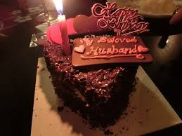 bday chocolate cake with candle