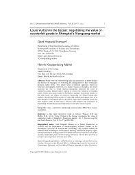 PDF Louis Vuitton In The Bazaar Negotiating