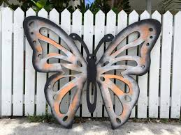 Butterfly Wall Decor Wood Sign Outdoor Art New Home Housewarming Gift