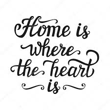 Home Is Where The Heart Poster Stock Vector