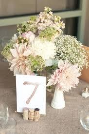 Burlap Wedding Table Centerpieces Decorations And Mason Jar Blush Peach