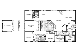 Triple Wide Modular Homes Floor Plans by 4 Bedroom Modular Homes Floor Plans Clayton The Gotham 4