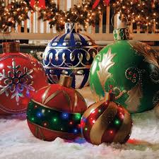 outdoor large christmas decorations rainforest islands ferry