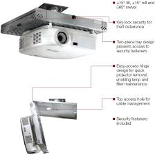 peerless psm unv universal dual layers projector security mount