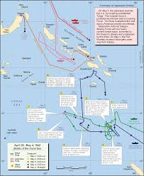 Where Did The Lusitania Sunk Map by Today In History May 4 U003d The Battle Of The Coral Sea