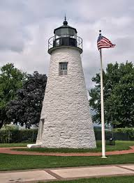 Concord Point Lighthouse At Havre De Grace Maryland Stock