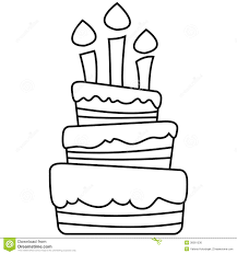 Vector illustration of birthday cake Festive breakfast