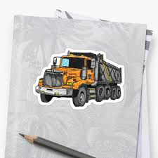 100 Dump Truck Drivers Orange Driver Construction Stickers By Statepallets