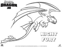Nightfury Coloring Pages