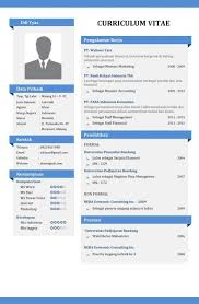 Contoh CV Yang Menarik Cv Models Template Resume Templates Format