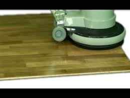 Floor Buffer Maintenance by Buffing A Dirty Floor Clean With Faxe Maintenance Oil Youtube
