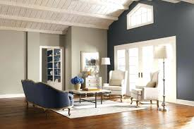 Blue Accent Wall Living Room Stone Dining Modern Color Ideas Paint White