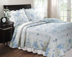 New Melissa Blue Floral Quilt Country Style Quilts Bedding