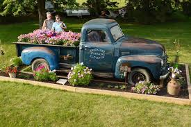 New Life Flower Bed Blooms In Old Pickup