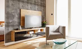 tv wand ideen tapete hinter fernseher