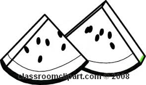 Watermelon slice clipart black and white