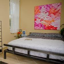 platform metal bed frame designs stunning platform metal bed