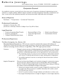 Corporate Counsel Of Accomplished With General Labor Resume Objective Examples And Professional Experience In The Broe Companies