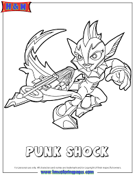 Skylanders Swap Force Water Punk Shock Coloring Page