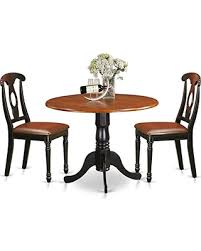 East West Furniture DLKE3 BCH LC 3 Piece Dining Table And 2 Kitchen Chairs