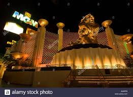Lion in front of MGM Grand Hotel and Casino Macau South China