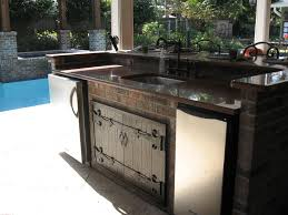 outdoor kitchen cabinets come with stainless steel