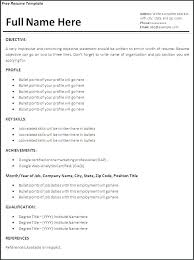 Professional Format Of Resume Structure Experience Sample Free Inside