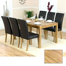 Dining Room Chairs Oak Solid Table And 6 Large Round
