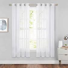 pony vorhang halbtransparent voile gardinen wohnzimmer stores gardinen balkontür ösenvorhang weiß 2 stücke h 175 x b 140 cm