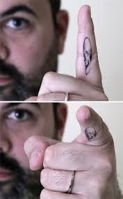 7 Anamorphic Skull Tattoo