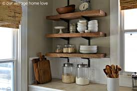 our vintage home love reclaimed wood kitchen shelving reveal