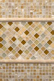 Glazzio Tiles Versailles Series by Giallo Crystal Onyx Ivory Travertine And Honey Onyx Caramel Glass