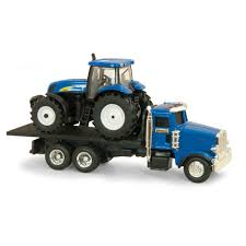 1/64th New Holland Peterbilt 367 Straight Truck With NH T7030