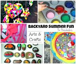 Summer Backyard Fun For Kids Outdoor Arts Crafts Projects Toddlers Craft Kindergarten Activities