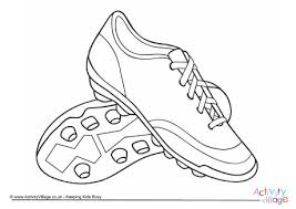 Football Boots Colouring Page 2