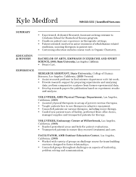 Entry Level Research Assistant Resume Example