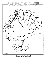 Printable Turkey Coloring Pages Football