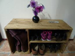 MADE TO ORDER Handmade Rustic Style Wooden Shoe Cabinet Rack Many Colours And Sizes