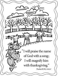 Thanksgiving Coloring Pages Scripture